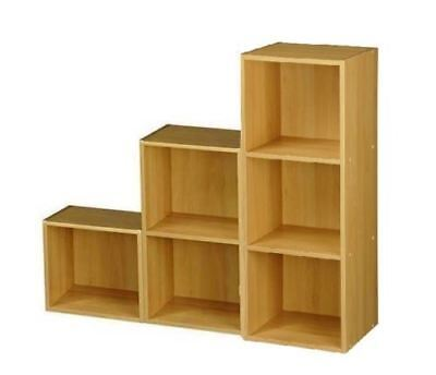 New Boxed 1, 2, 3 Step Bookcase Storage Display Shelving Unit Beach Effect