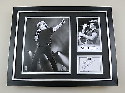 Brian Johnson Signed Photo Framed 16x12 AC/DC Autograph Memorabilia Display COA