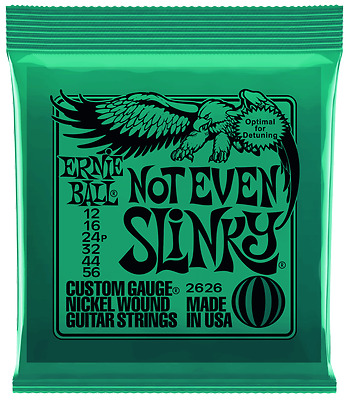 Ernie Ball 2626 Not Even Slinky 12-56 Electric Guitar Strings or Single Strings