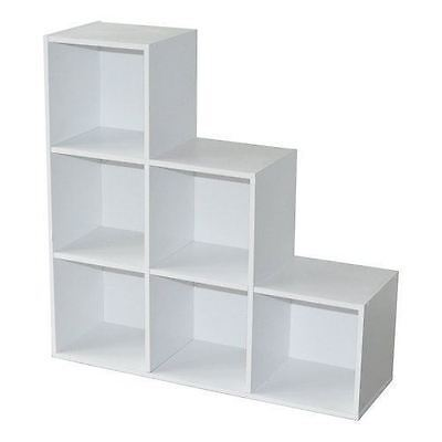 New Boxed 1, 2, 3 Step Cube Bookcase Storage Display Unit White