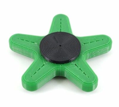 STARFISH fiddle fidget toy smoking nail biting Autism ADHD SEN help! Green STD
