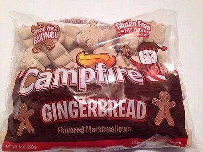 Campfire Marshmallows Christmas Gingerbread Flavored Gingerbread Men Shaped 8 Oz