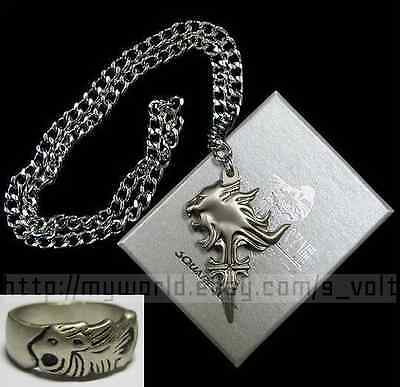 FREE Shipping! Final Fantasy VIII Necklace & Ring Squall Griever Lion Cosplay