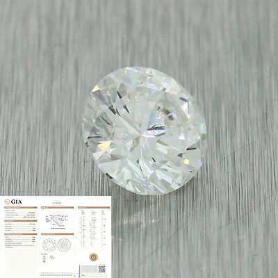2.01ct GIA Certified I SI2 Round Brilliant Cut Loose Diamond for Engagement Ring