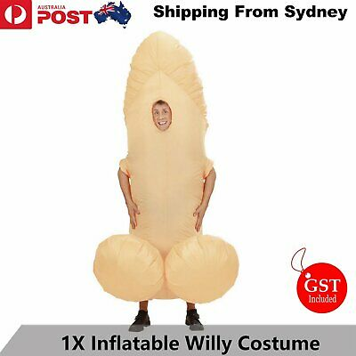 Inflatable Willy Costume Penis Adult Novelty Fancy Dress Party Outfit Fan Funny