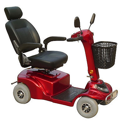 Enduro ES400 Battery Operated Mobility Disability Scooter - Red