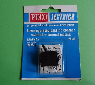 PECO LECTRICS, PL-26 Lever Operated Passing Contact Switch for Turnouts. NEW