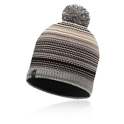 Buff Neper Mens Grey Winter Warm Outdoors Sports Bobble Hat Knitted Cap