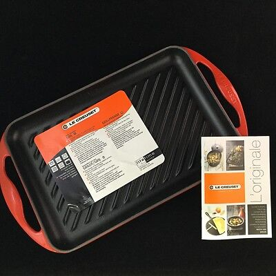 Le Creuset Rectangular Skinny Grill 1 Qt. Red
