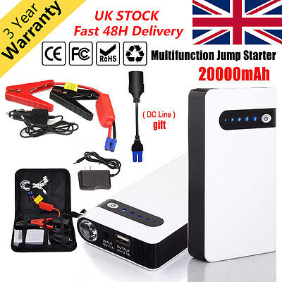 Mini 20000MAH Portable Car Jump Starter Emergency Charger Battery Power Bank 12V