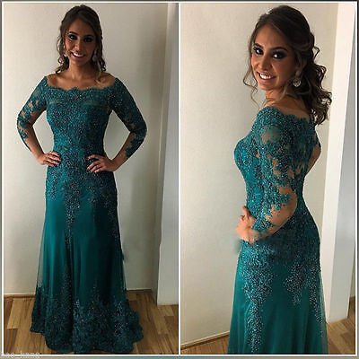 Custom Made Lace Mother Of The Bride Dress Long Sleeves Evening Prom Party Gowns