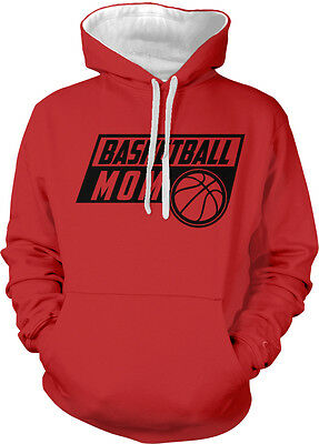 Basketball Mom Parent Mother Mommy Child Kid Team My Two Tone Hoodie Sweatshirt