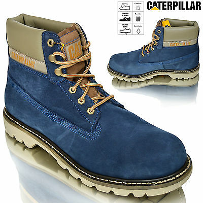 Mens Caterpillar CAT Colorado 6'' Leather Military Biker Ankle Boots Shoes Size