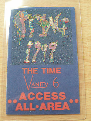 PRINCE Laminated ACCESS ALL AREAS Backstage Pass - 1999 TOUR