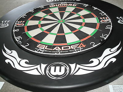 Winmau Blade 4 Competition Bristle Dart Board with Surround and Extras