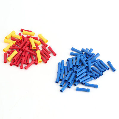 100x Insulated Terminal Butt Connector Electrical Automotive Cable Wire Crimp