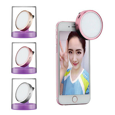 Mini Clip Selfie LED Phones Flash Light Synchronous Speedlite for iPhone 6s/Plus
