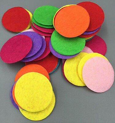 400PCS 30mm Mixed Colors Die Cut Felt Circle Appliques Cardmaking DIY Crafts