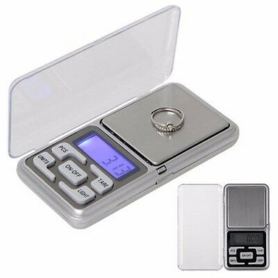 200g x 0.01g Pocket Digital Scale Jewelry Gold Herb Balance Weight Gram LCD