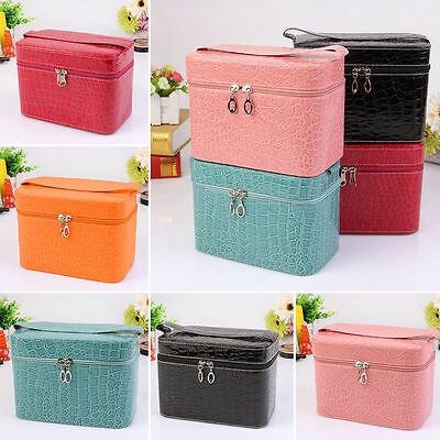 Multicolor Beauty Make Up Nail Tech Cosmetic Box Jewellery Vanity Case