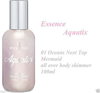 Essence Aquatix all over body shimmer 100ml 01 Oceans Next Top Mermaid glanz