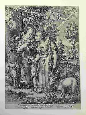 Rare 16th CENTURY Jan Saenredam Dutch (1601) Hendrick Goltzius engraving