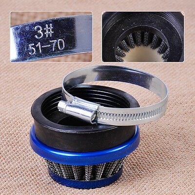 60mm Air Filter for 49cc -80cc 2 Stroke Motorized Bicycle Motorcycle Pocket Bike