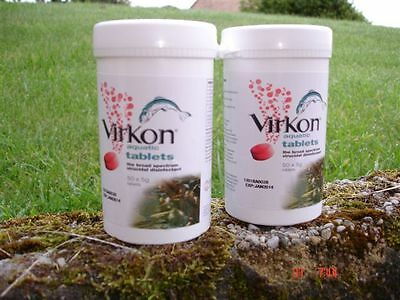 2 packs of Virkon S Aquatic® Tablets  (100  Tablets)  Dated  TO  FEBRUARY  2018