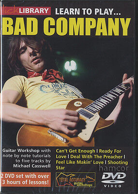Learn to Play Bad Company Lick Library Guitar DVD Set by Michael Casswell