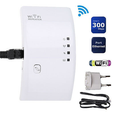300Mbps Wireless N 802.11 Wifi Range Booster Repeater Extender AP Router EU Plug