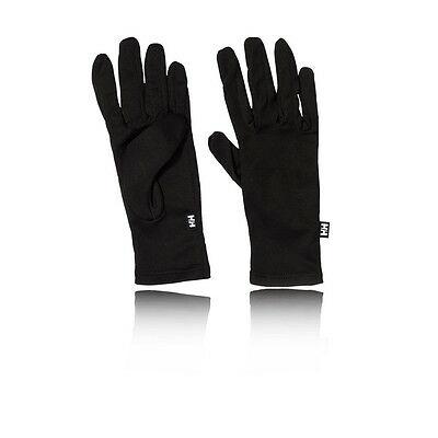 Helly Hansen Hombres Mujeres Negro Dry Running Correr Ciclismo Muñeca Guantes