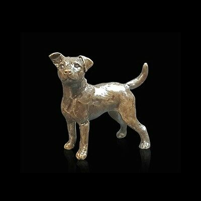 Jack Russell Solid Bronze Foundry Cast Detailed Sculpture Butler & Peach [2071]