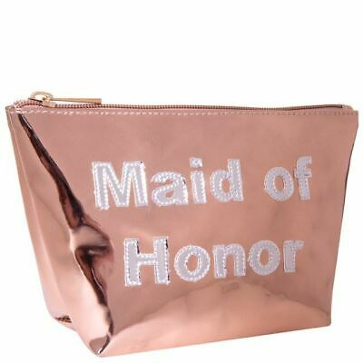 LOLO Rose Gold Maid of Honor Cosmetic Make Up Bag RRP £29.95