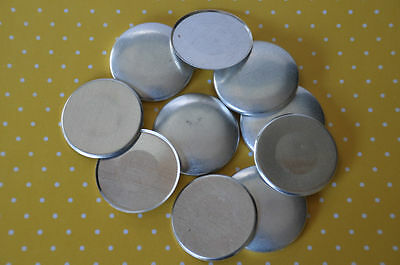 DIY 50 x self cover flat back buttons size 60 (38mm)