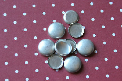 DIY 100 x self cover flat back buttons size 20 (12mm)