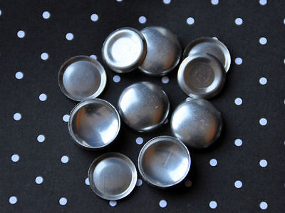 DIY 50 x self cover flat back metal buttons size 24 (15mm)