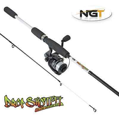 NGT 7ft 2pc Carbon Drop Shot Fishing Rod and Reel + Line Set Up With Tackle