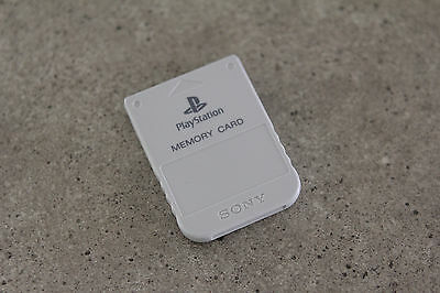 Sony Playstation 1 PS1 Genuine Memory Card (SCPH-1020) Light Grey