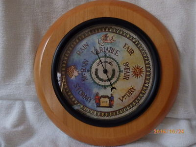 """Country Style Rustic Round Barometer- 12"""" diameter"""