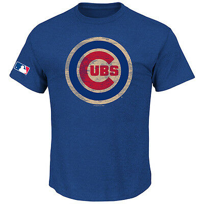 MLB Baseball T-Shirt CHICAGO CUBS blau Hungar von Majestic