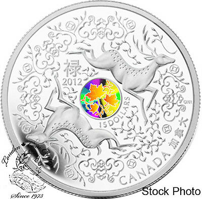 Canada 2012 $15 Maple of Good Fortune Silver Coin