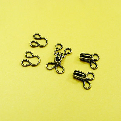 100 Wholesale Lot Hook & Eye Metal Repairs Craft Sewing Notion Size 1 (S) Brass