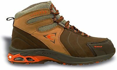 Cofra Bronx S3 Safety Brown Leather Mens Boots Hiker Steel Toe Caps Midsole