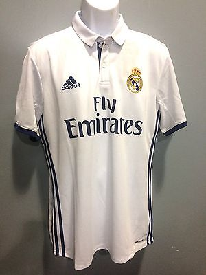 22da18fba Real Madrid  7 Ronaldo White Jersey authentic adidas name and number