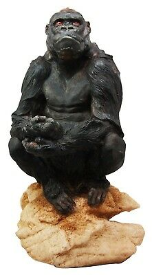 Lowland Gorilla Herbivorous Ape Wildlife Endangered Collectible Figurine Stat...