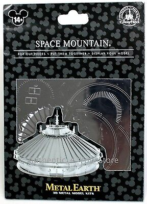 NEW Disney Parks Metal Earth 3D Model Kit Space Mountain Disney World Attraction