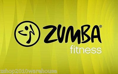 """ZUMBA BANNER Sign,Picture,Horizontal Vinyl Easy Hang Boss Extra large 30"""" x 47"""""""