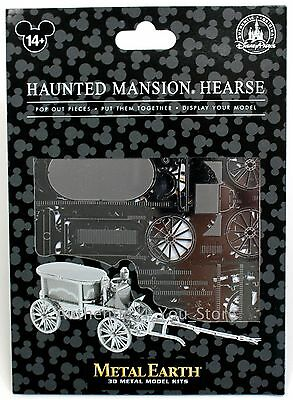 NEW Disney Parks Metal Earth 3D Model Kit Haunted Mansion HEARSE Disneyland
