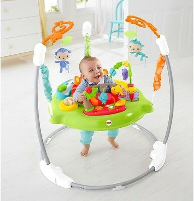 Fisher Price Jumperoo Roaring Rainforest Baby Music New Bouncer Lights Swing