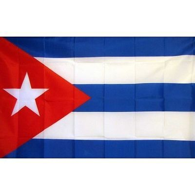 CUBA FLAG 150cm x 75cm (4,5' x 2,5' ft) LARGE BRAND NEW